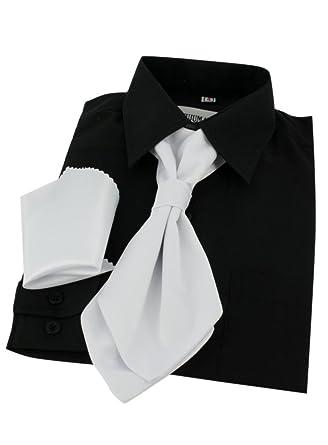 scarpe temperamento tessuti pregiati andare online Cravatta Lavalliere da Bambino + pochette bianco taglia ...