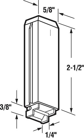Adjustable Nylon//Steel 2 Piece Pack of 2 Prime-Line MP6560 Bypass Door Guide
