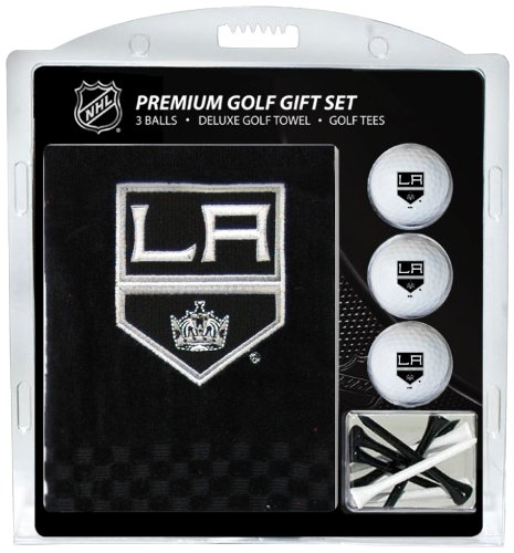 Team Golf NHL Los Angeles Kings Gift Set Embroidered Golf Towel, 3 Golf Balls, and 14 Golf Tees 2-3/4