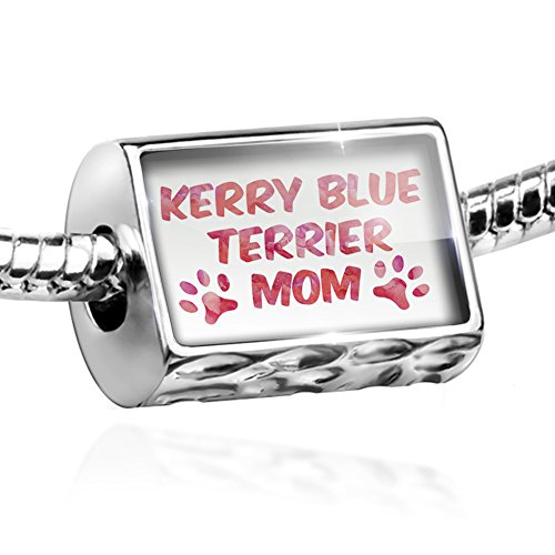 Kerry Dog Charm Blue Terrier (NEONBLOND Bead Dog & Cat Mom Kerry Blue Terrier Charm Fits All European Bracelets)