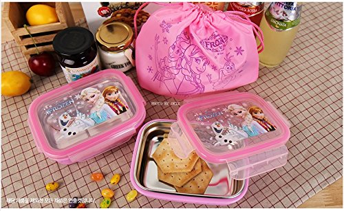 Disney Frozen Double Lock Stainless two-stage lunch box