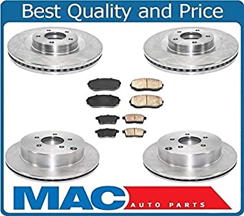 Front+Rear Brake Rotors /& Carbon Ceramic Pads For 2007 2008-2010 Edge MKX