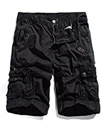 "<span class=""a-offscreen"">[Sponsored]</span>Cotton Twill Army Cargo Multi-Pocket Shorts Outdoor Wear Lightweight"