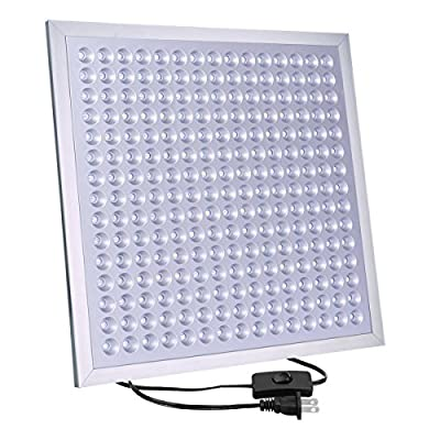 "LED Grow Light Growstar 45W Plant Lights Bulbs Panel Series Full Spectrum for Hydroponic Aquatic Indoor Plants 13"" 225 LEDS"