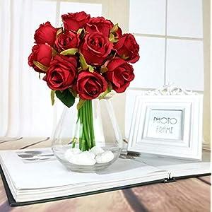 12Pcs Artificial Rose Bouquet Decorative Silk Flowers Bride Bouquets for Wedding Home Party Decoration Wedding Supplies 3