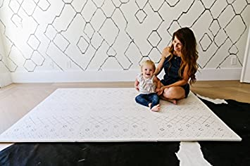 Stylish Extra Large Baby Play Mat Soft Playmat, Thick Comfortable Foam. Six 24 x 24 Floor Tiles with edges for babies. Non-Toxic, No Odors, Spill Resistant, Durable. Yay Mats Puzzle Mat 4 Tummy Time