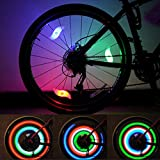 Bike Spoke Light Cycling Spokelit Bicycle Decoration (Total 6pcs, Green-2pcs Red-2pcs Blue-2pcs)