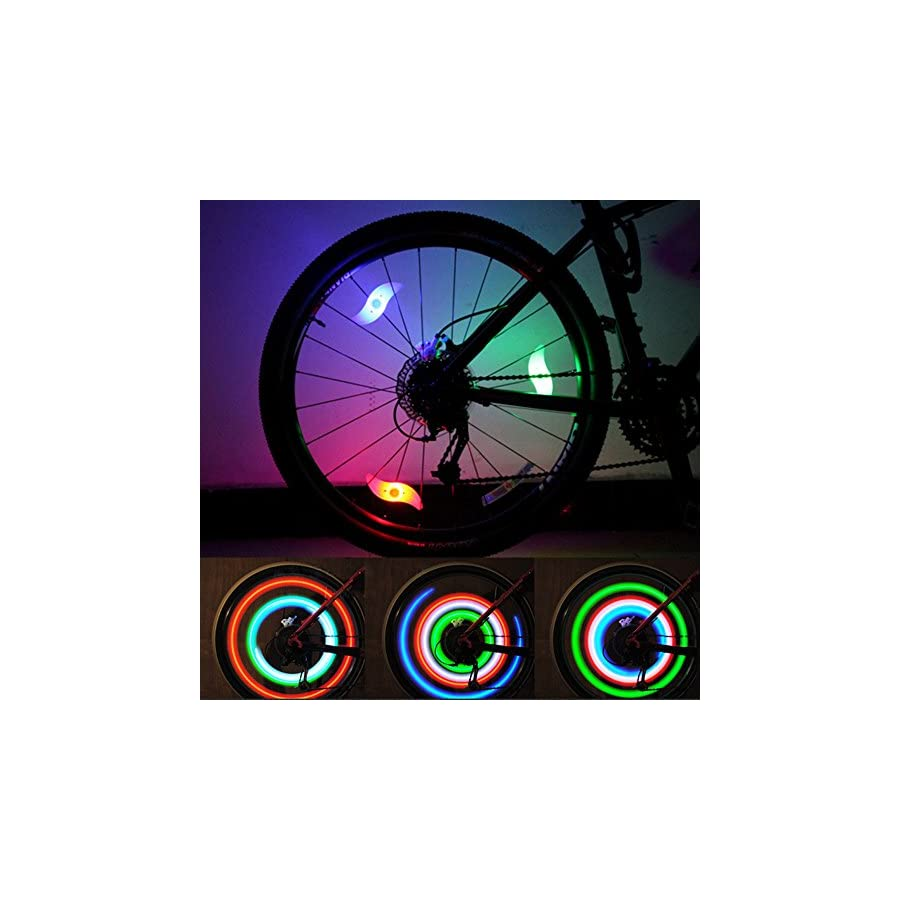 LEBOLIKE Bike Spoke Lights Cycling Bike Wheel Lights for Bicycle Decoration 6 Pack Batteries Included