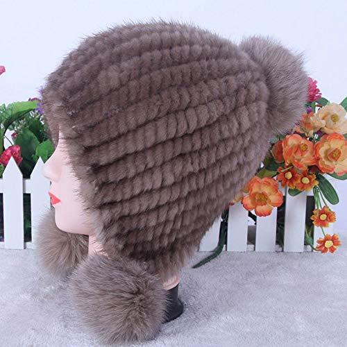 Punto Invierno Bola Calientes La Moda Mujer Personalidad D Orejeras Gruesa una Talla una Sombrero Jie Sombreros De Hx8wHFf