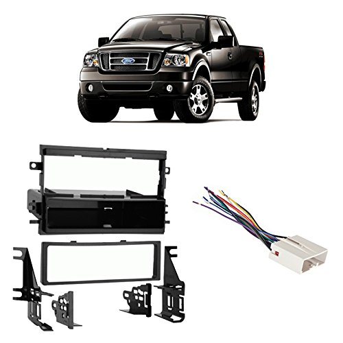 Fits Ford F-150 2004-2006 Single DIN Stereo Harness Radio Install Dash Kit