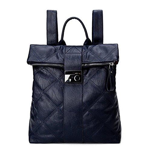 PU Cuir Randonnée Dos de CCAFBP180778 Bleu Daypack à Boucle Femme Daypacks VogueZone009 Sacs 1CUqq5