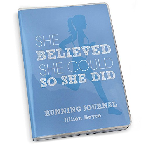 Gone For a Run She Believed She Could Running Journal | Paper Journal Blue