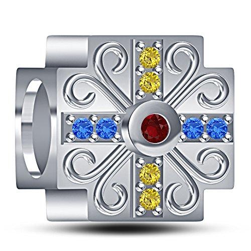 lilu Bijoux en argent sterling 925Platine de Disney Blanche Neige Bracelet charme Parfait pour bracelet type Pandora & Biagi