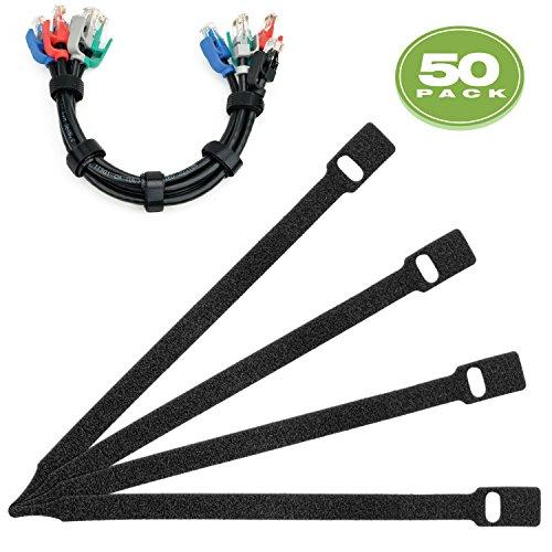 Mediabridge Cable Management Straps 50-Pack (10 Inches) - Adustable & Reusable (Part# CM6-10X50B )