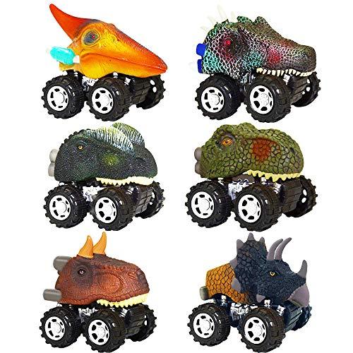 DEDY Toys for 3-6 Year Olds Kids, Pull Back Dinosaur Cars Toys for 2-6 Year Old Boy Toys for 3-4 Year Olds Educational Kids Toys Gifts for Boys Girls Dinosaur 2-6 Year olds Boys 6 Pack DDKLWJC03