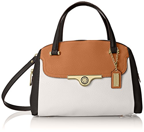 Anne Klein Lady Lock Satchel Top Handle Bag WhiteMulti One Size