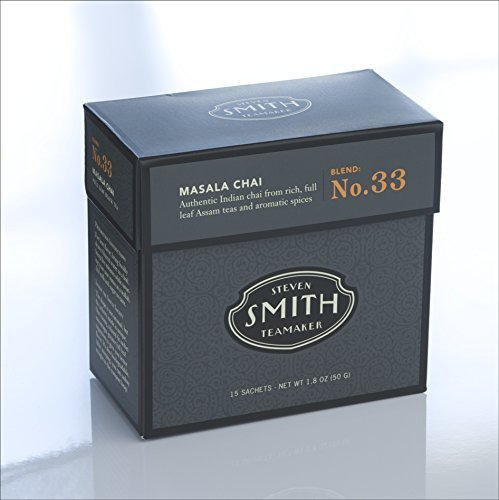 Smith Teamaker Masala Chai Blend No. 33 full leaf blended black tea,15 Count by Smith Teamaker