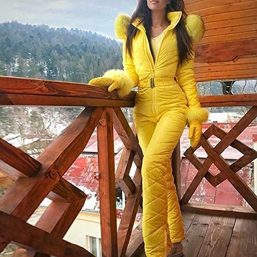 Wei Lalaoo Damen Ski Anzug Medium Damen Winter Warm Schneeanzug Wasserfest Snowboard Overall Schneeanzug Auen Sports Hose Ski Anzug Wasserfest Overall Ausziehen Einfach