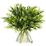 THE BLOOM TIMES Artificial Greenery (Pack of 6), Fake Foliage Plants Stems Faux Flowers for Home, Wedding, Garden…