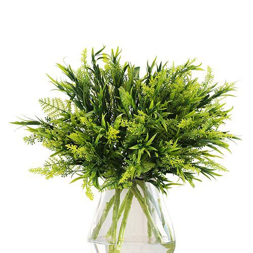 The Bloom Times Artificial Greenery (Pack of 6), Fake Foliage Plants Stems Faux Flowers for Home, Wedding, Garden, Farmhouse, Garden, Patio, Indoor and Outdoor Decor in Bulk Wholesale