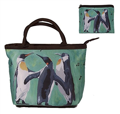 Small Purse and Marching Change Purse - Great Gift Set for Young Girls (Penguins - The Trio)