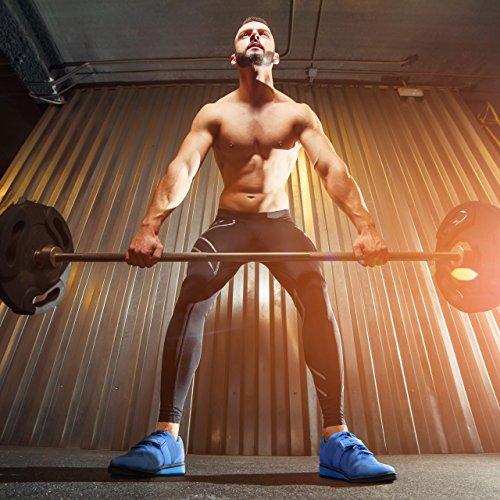 Nordic Lifting Powerlifting Schuhe für schweres Gewichtheben - Men's Squat Shoe - Megin 1 Jahr Garantie Blau