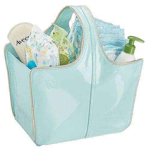 mDesign Nursery Diapers Wipes Powder