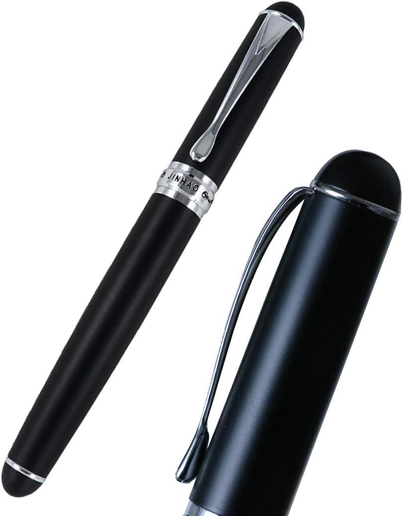 JinhHao X750 - Pluma estilográfica (18 KGP, punta mediana, con estuche para bolígrafo): Amazon.es: Oficina y papelería