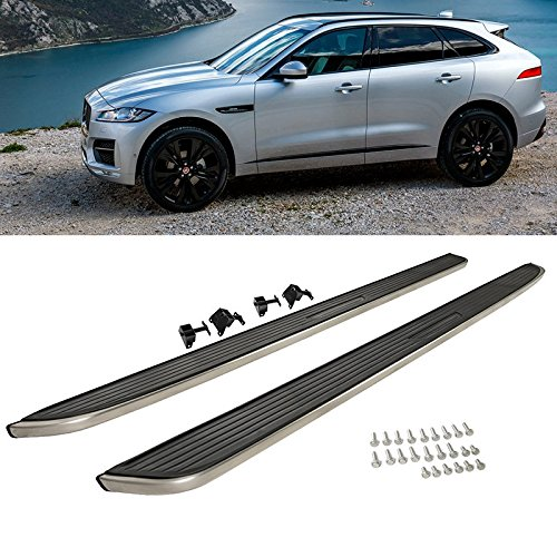Jaguar F Pace 2017-2018 Aluminum Side Step Running Board Nerf Bar Chrome Silver by Advan-Emotion