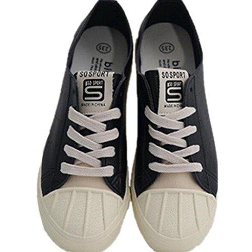 Classico Bianco Summer 39 Black Libero Danza Shoes Xie Movimento Colore Solido Tempo Fitness Nero 39 Lady Studenti qEtHZH7