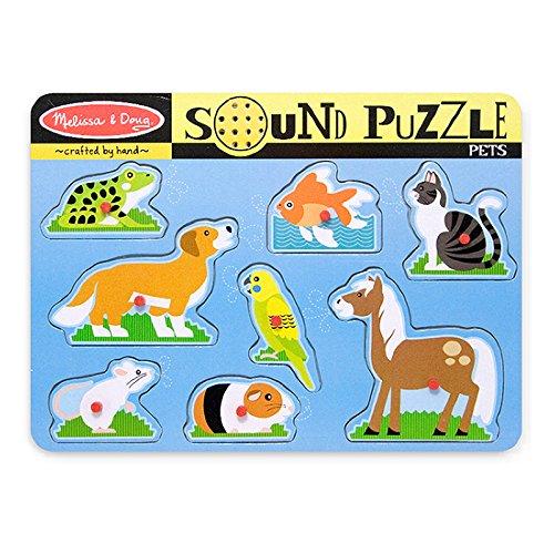 MELISSA & DOUG PETS SOUND PUZZLE (Set of 3)
