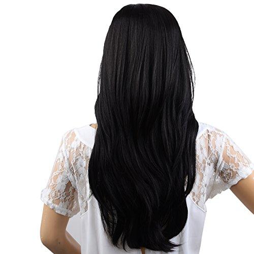 22 Inch Black Charming Long Wavy Hair Wig + Wig Cap