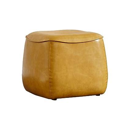 Terrific Amazon Com Lifex Nordic Leather Sofa Stool Clothing Store Machost Co Dining Chair Design Ideas Machostcouk