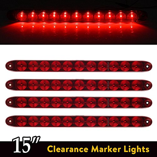 red waterproof 11 light bar