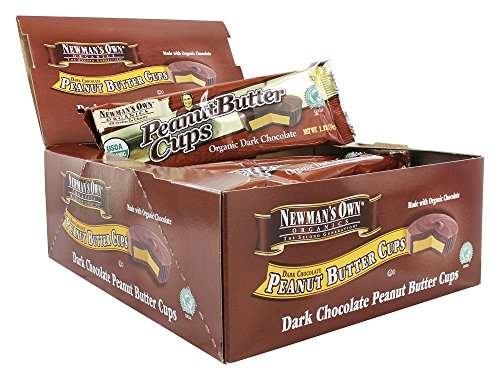 Newman's Own Organics Organic Dark Chocolate Peanut Butter Cups, 1.2 oz, 16 ct