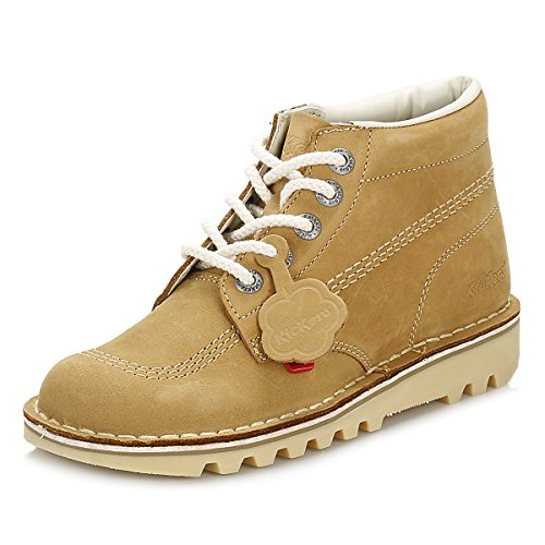 (Kickers Kick Hi Womens Tan/Natural Nubuck Boots-UK 4 / EU 37)