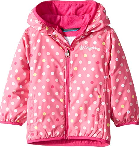 Toddler Columbia Mini - Columbia Kids Baby Girl's Mini Pixel Grabber¿ II Wind Jacket (Infant/Toddler) Wild Geranium Polkadot 4T