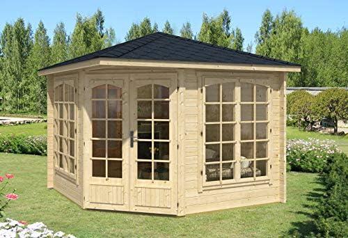 Alpholz Josephine-40 A - Caseta de jardín de 5 Esquinas, Grosor de Pared de 40 mm (302 x 302 cm): Amazon.es: Jardín