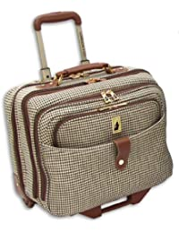 Luggage Chelsea 17 Inch Computer Bag, Olive Plaid, One Size