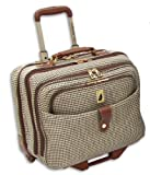 London Fog Luggage Chelsea 17 Inch Computer Bag, Olive Plaid, One Size