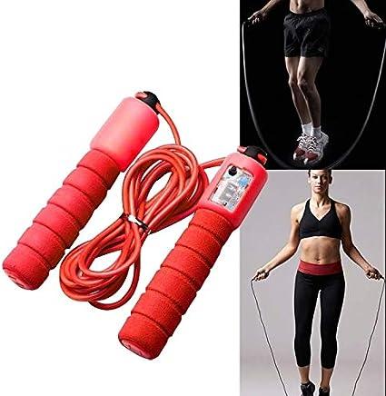Springseil Zähler Verstellbares Springseil mit Gegen ♞ Seilspringen Fitness