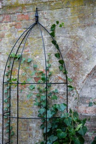 kuheiga Pérgola, celosía, Negro, Altura: 150 cm, Completo Hierro Enrejado semicircular: Amazon.es: Jardín
