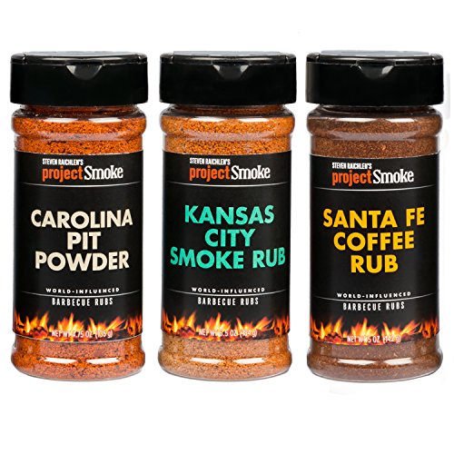 Steven Raichlen Project Smoke BBQ Spice Rub Seasoning - 3 Pack American Barbeque Gift -