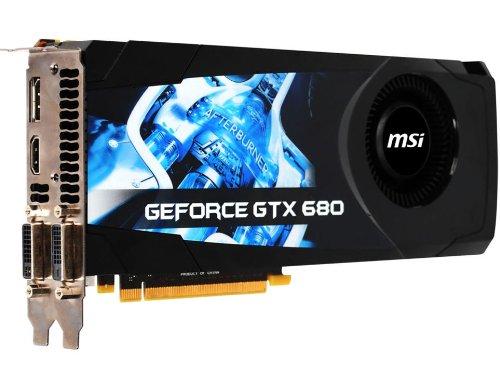 MSI NVIDIA GeForce GTX 680 2GB GDDR5 2DVI/HDMI/DisplayPort PCI-Express Video Card (N680GTX-PM2D2GD5)