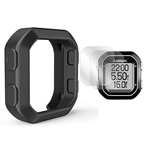 TUSITA Silicone Case + Screen Protector For Garmin Edge 20/25 GPS Bike Computer Cover