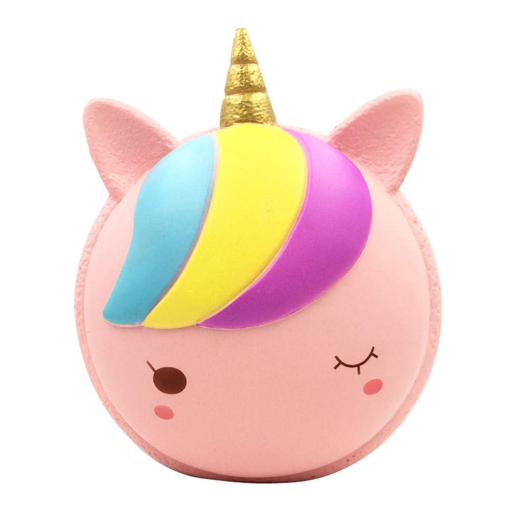 9.8Inches Squishy Macaron Unicorn Jumbo 25cm Slow Rising Toy Soft Animal Cake Gift Collection by Unknown