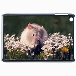 Customized Back Cover Case For iPad Mini 2 Hardshell Case, Black Back Cover Design Mouse Personalized Unique Case For iPad Mini 2