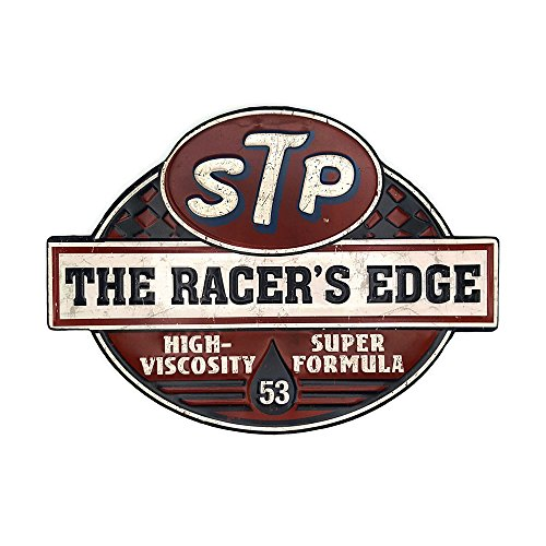 Embossed Sign - 66Retro STP The Racer's Edge, Vintage Retro Embossed Metal Tin Sign, Wall Decorative Sign