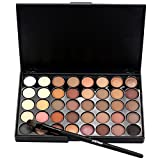 cream eyeshadow set - Creazy Cosmetic Matte Eyeshadow Cream Makeup Palette Shimmer Set 40 Color+ Brush Set (A)