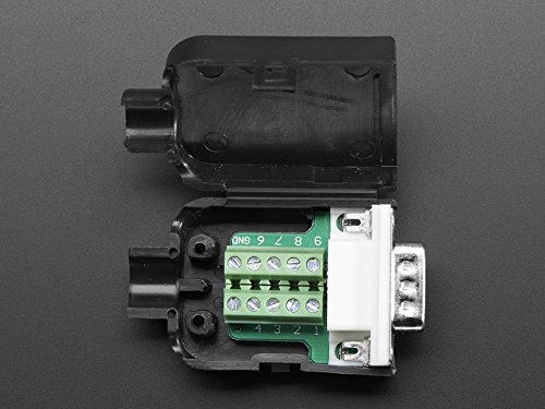 DE-9 (DB-9) RS232 Male Plug to Terminal Block Breakout